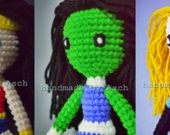Finished Doll : Wonder Woman, She Hulk, Invisible blue