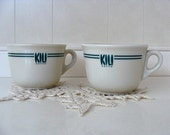 Kili Caffe' Cups Set of 2 Made In Italy
