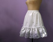 Fancy White Lace  Petticoat,  custom made to your size and length