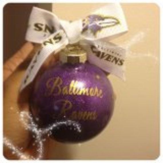 Baltimore Ravens Ornament (personalize it)