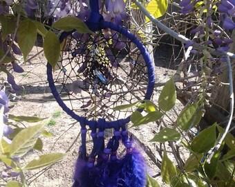 Purple Majesty dreamcatcher with fringe