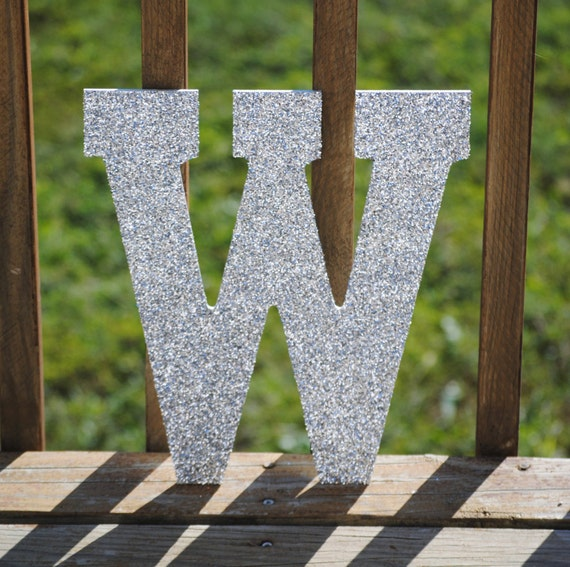 Silver Letters Home Decor: Decorative 13 Silver Glitter Wall Letters Girls By