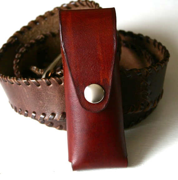Pocket Knife Holder Brown Leather Pocket Knife Holder For