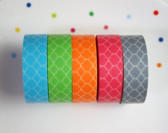 Moroccan Pattern Washi Tape Set of 5