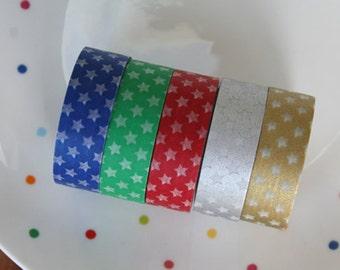 Mini Stars Washi Tape Set of 5