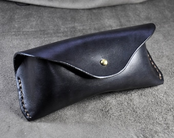 Hand Stitched  Leather Glasses Case -sunglasses cover-eyewear holder
