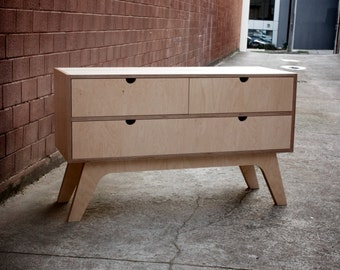 Dressing Table/Sideboard Table with soft closings drawers made from Russian Birch Plywood