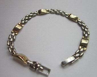 Vintage Sweet Silver Tone Chain Bracelet