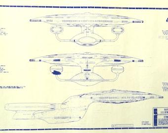 Star Trek Enterprise 1701-D Blueprint