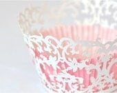 20 Victorian Laser Cut Cupcake Wrappers Wraps - 15 Colors Available