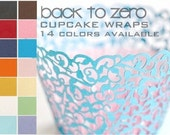 50 Filigree Cupcake Wrappers Wraps - 15 Colors Available
