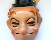 Vintage Mask Masque Cesar Laurel & Hardy LAUREL 1980's