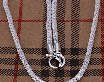 "5pcs 20"" 4mm silver plated Soft Snake Chain Necklace Wholesale"