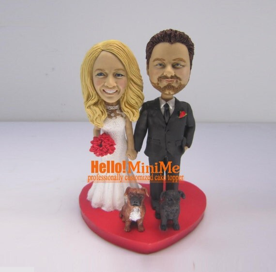 Bobblehead Cake Toppers For Wedding Cakes