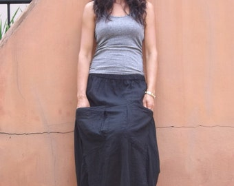 Funky Skirt ...Long Skirt ....Color Black