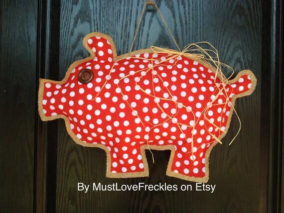 Items similar to arkansas razorback quot piggy polka dot