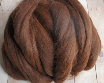 SALE Light Brown Baby Alpaca Top - Undyed - Roving for Spinning and Felting - 100g