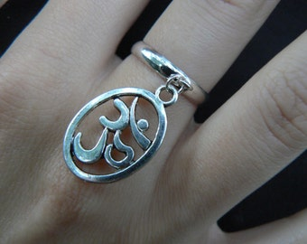 ohm ring  om ring in yoga new age meditation zen hipster boho gypsy hippie style