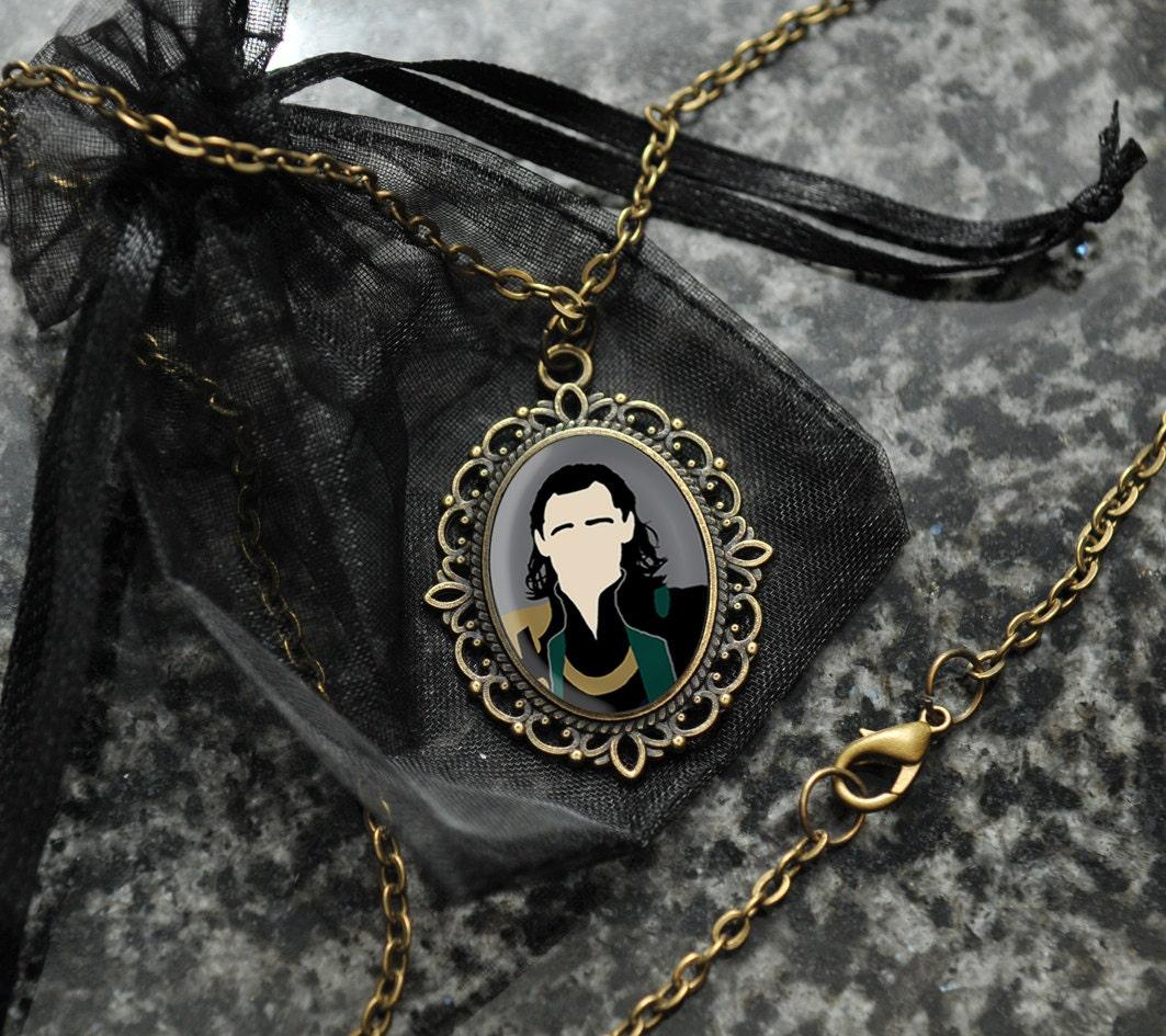 loki necklace tom hiddleston cameo portrait pendant fandom