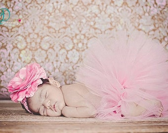 Tickle Me Pink tutu set (Sizes NB-24 Months)