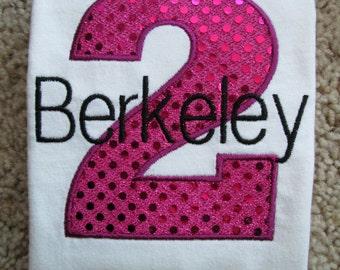 Personalized Birthday Shirt. 1st Birthday, 2nd Birthday, 3rd Birthday, 4th Birthday, 5th Birthday.