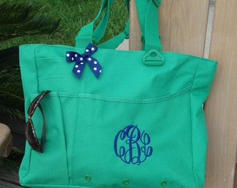Monogrammed Super Feature Tote by Mad about Monograms- Perfect for Gifts