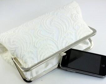 Bridal Clutch / Wedding Clutch - White Lace Clutch