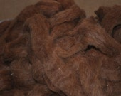Roving Tri-Camelid Huacaya Suri Suri Llama Red Head Spinning Felting