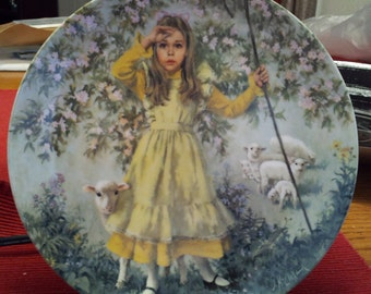 Limited Edition Collector's plate by John Mc Clelland Reco 1983 8-1/2 inch Little Bo Peep
