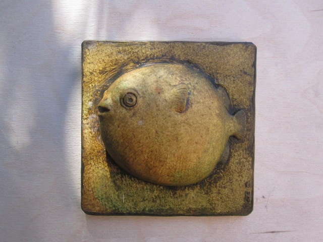 Puffer fish funny decorative wallsculpture sand and sea for Puffer fish sand art