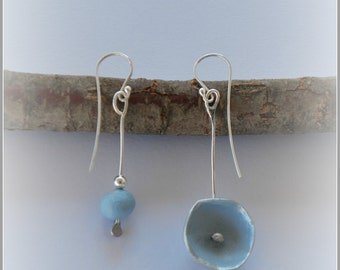 Water Lilie  Earrings (sky blue)