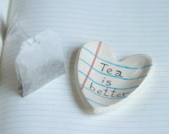 Tea Bag Holder Notebook Ceramic Tray