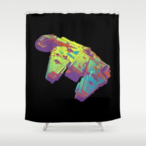 rideau de douche star wars millenium falcon. Black Bedroom Furniture Sets. Home Design Ideas