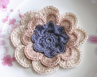 Larger Crochet Flower in 3 inches YH - 164