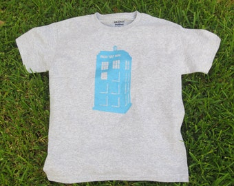Kids Doctor Who Tardis Screenprinted Shirt