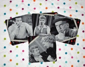 Lucy, Ricky, Fred, Ethel Drink Coasters (4 fabric coasters)