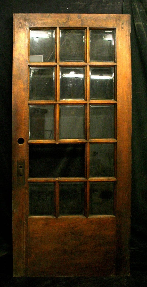 36x79 antique french solid wood exterior entry for Vintage solid wood doors