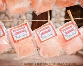 20 Cotton Candy Party Favors with Custom Label