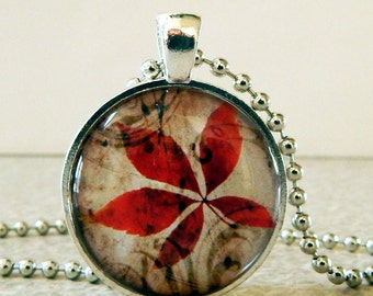 Fall Leaves Pendant, Fall Leaves Necklace, Autumn Leaves Pendant, Autumn Leaves Necklace, Fall Leaves Jewelry, Fall Leaves Necklace, Glass