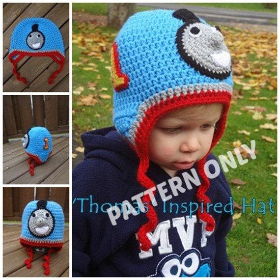 Thomas Knitting Pattern : Thomas the Train Inspired Hat PATTERN PDF 5 sizes Instant
