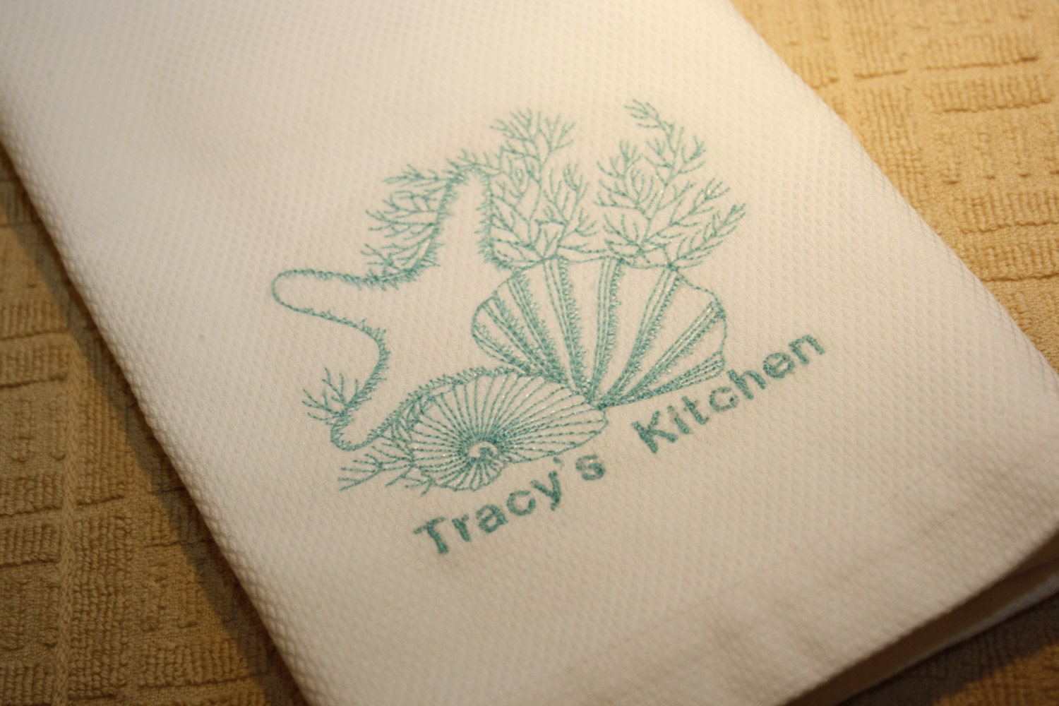 2 Personalized Kitchen Towels Personalized By Bellablingbymelissa