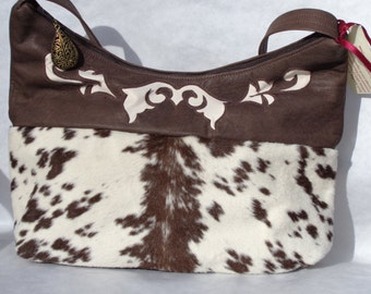 Large Calf Skin and Leather Bag