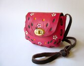 25% OFF WITH CODE: Pink Floral Mexican Purse