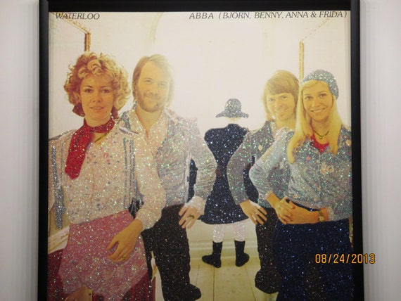 Glittered Record Album - ABBA - Waterloo