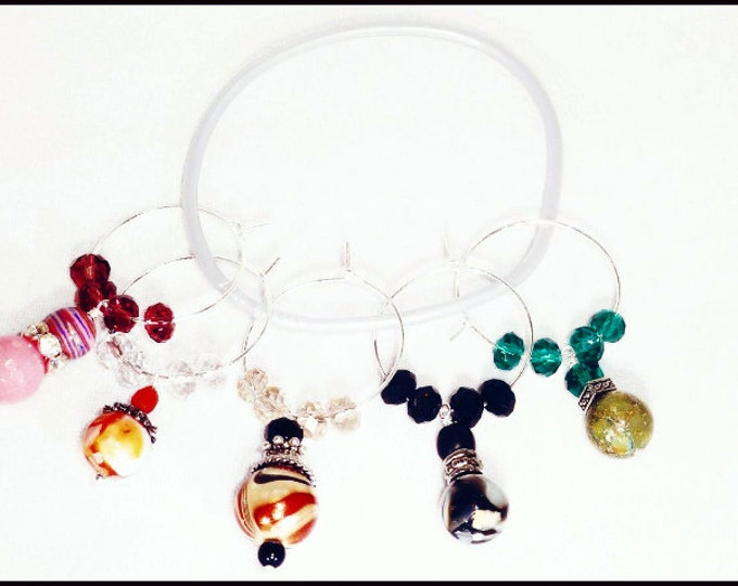 Gemstone Wine Charms - 5 pack