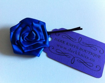 Satin rose hair pin