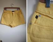 SALE Vintage Yellow Ralph Lauren Shorts CODE: HELLOTX50