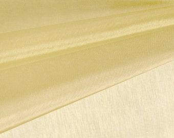 Gold Organza Fabric by the Yard, Wedding Decoration Organza Fabric, Sheer Fabric - Style 1901
