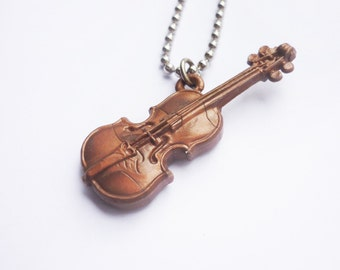 The Violin - Funky Shrunky Necklace