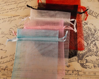 50- 2x3 Organza Gift Bags in 5 awesome colors